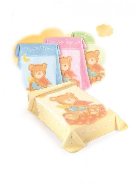 Belpla Baby perla gold pléd (537) 110*140 yellow  - tasakos