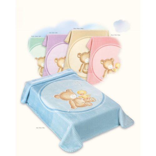 Belpla Baby perla gold pléd (549) 110*140 blue tasakos