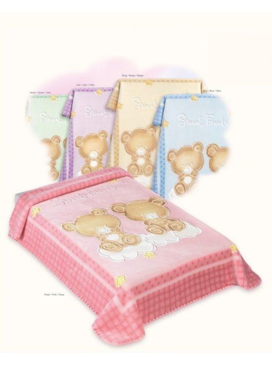 Belpla Baby perla gold pléd (548) 110*140 pink tasakos