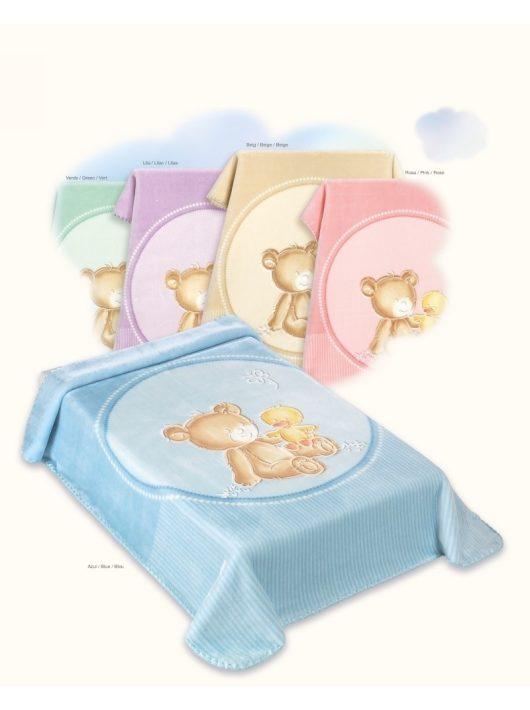 Belpla Baby perla gold pléd (549) 80*110 bézs -tasakos