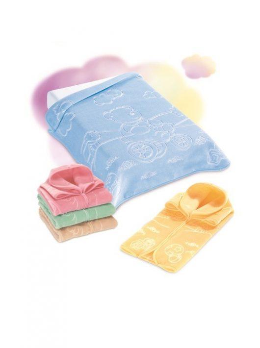 Belpla Baby perla zsák (519) 80*90 blue - dobozos