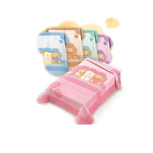 Belpla Baby perla gold pléd (543) 80*110 rosa -tasakos
