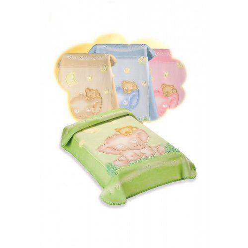 Belpla Baby perla gold pléd (535) 110*140 pink -tasakos