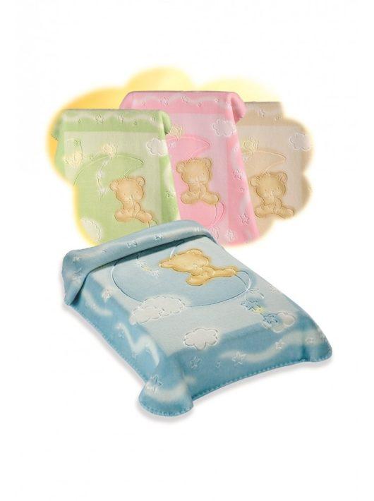 Belpla Baby perla gold pléd (536) 110*140 blue-tasakos