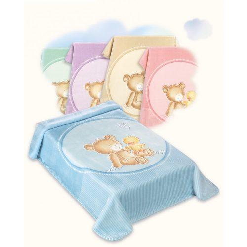 Belpla Baby perla gold pléd (549) 80*110 blue -tasakos