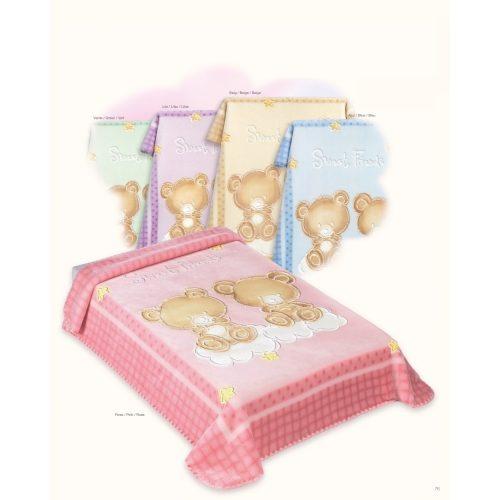 Belpla Baby perla gold pléd (548) 80*110 bézs -tasakos
