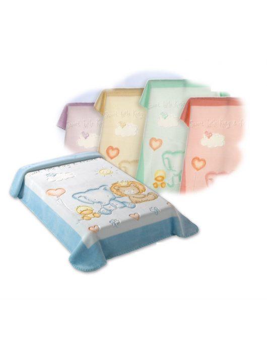 Belpla Baby perla gold pléd (547) 80*110 blue -tasakos