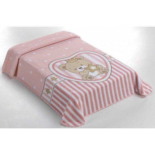 Belpla Baby perla pléd (655) Baby Sweet 80*110 pink - dobozos