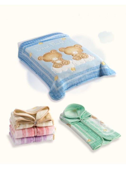 Belpla Baby perla gold zsák (548) 80*90 blue - dobozos