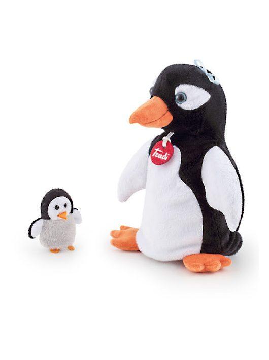 Trudi plüss báb 25 cm - Pinguin with baby