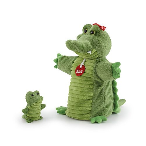 Trudi plüss báb 24 cm - Krokodil