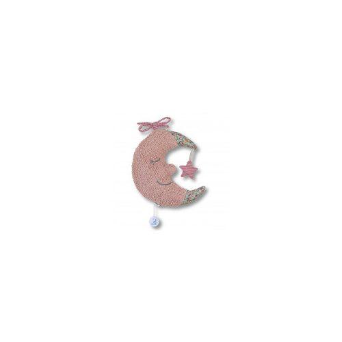 Sterntaler felhúzható zenélő - rózsaszín hold 21 cm