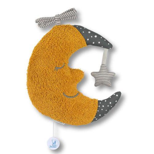 Sterntaler felhúzható zenélő - sárga hold 21 cm