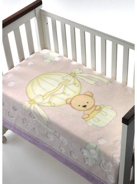 Mora Lux Plus Baby 042 pléd 80*110 09-lila-dobozos