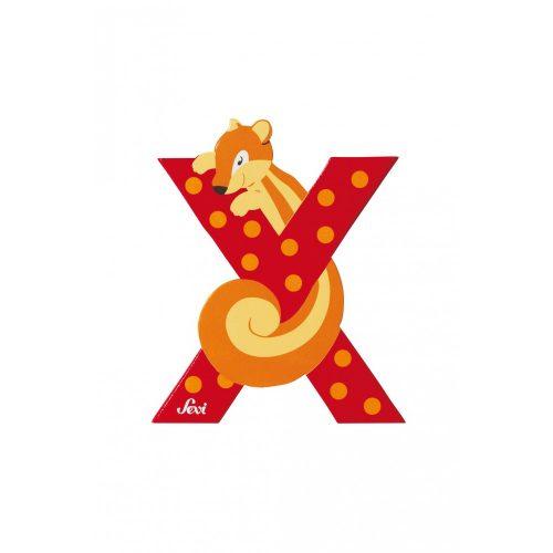 Sevi fa betű állatos X