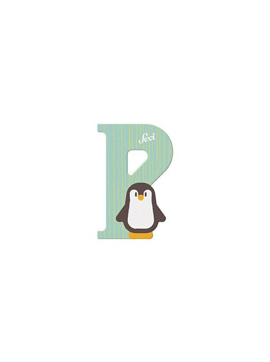 Sevi fa betű állatos P - Penguin