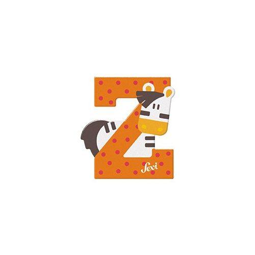 Sevi fa betű állatos Z - Zebra