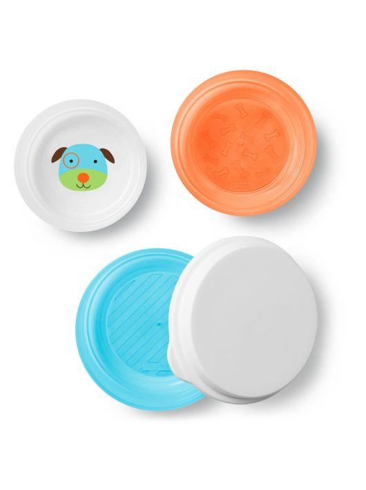 Skip Hop csúszásgátlós tányér mély 3db-os Kutya
