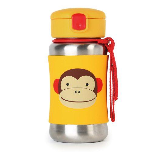 Skip Hop Zoo Monkey - szívószálas üveg -termosz