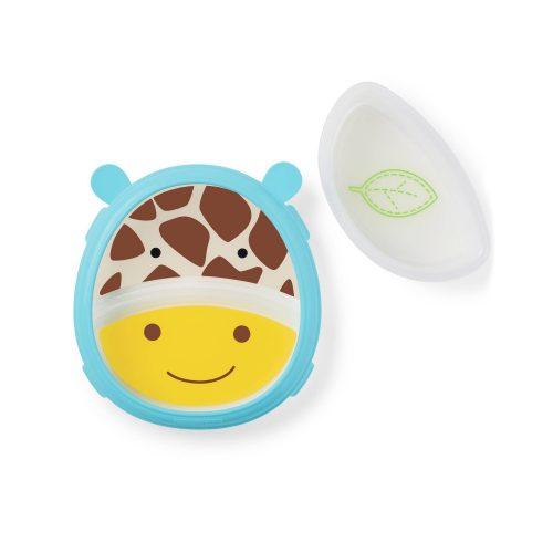 Skip Hop Zoo csúszásgátlós tányér szett Zsiráf