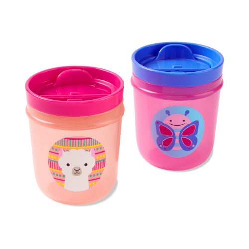 Skip Hop Zoo Tumbler Cups pohár láma és pillangó