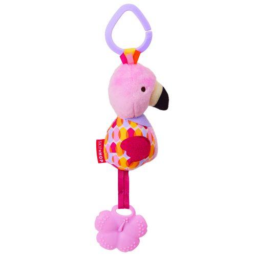Skip Hop Bandana Buddies Chime plüss rágóka Flamingo