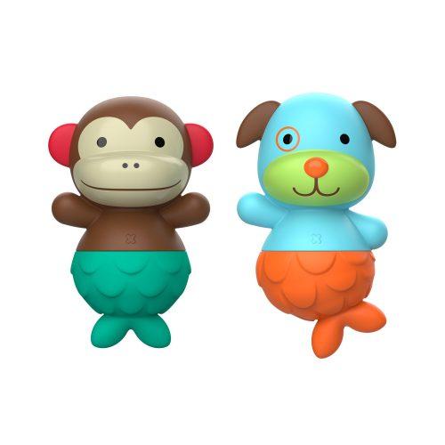 Skip Hop Zoo Mix & Match Flippers fürdőjáték majom és kutya